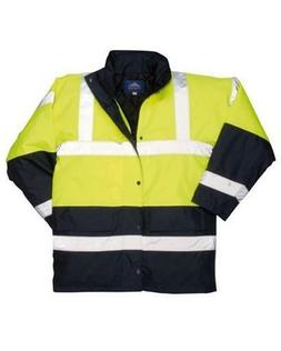 Portwest Men's Hi-Visibility Contrast Traffic Jacket Yellow