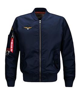 Vogstyle Men's Hip Hop Jacket Air Sky Flight Patch Embroider
