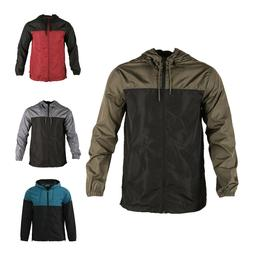 Men's Hooded Lightweight Windbreaker Windproof Outdoor Jacke