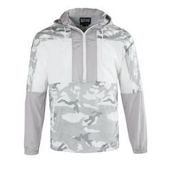 Men's Hooded Pullover Lightweight Windbreaker Run Outdoor Ja