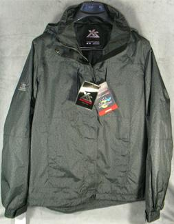 Men's ZeroXposur Hooded Rain Jacket Windbreaker Hardshell Gr