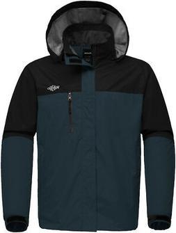 Wantdo Men's Hooded Raincoat Outdoor Windproof Waterproof Ra