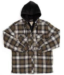 Boston Traders Men's Hooded Shirt Jacket Exclusive Of Decora