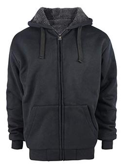 SWISSWELL Men's Hooded Sweatshirt Fashion Fleece Zipper Hood