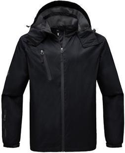 Wantdo Men's Hooded Windproof Rain Jacket Windbreaker Outdoo