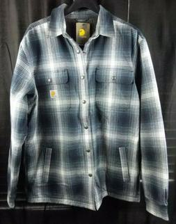 Carhartt Men's Hubbard Flannel Plaid Sherpa Lined Shirt Jack