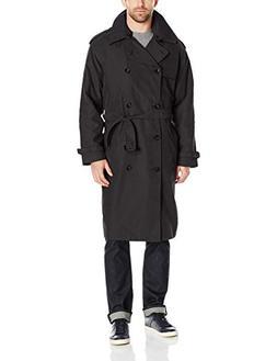 London Fog Men's Iconic Trench Coat, Black, 38 Short