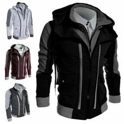 Men's Jacket Warm Hoodie Coat Sweater Hooded Sweatshirt Outw