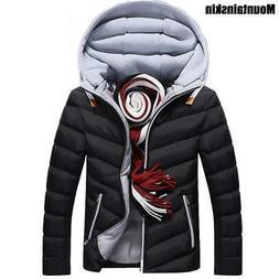 Men's Jackets Hooded Coats Men Outerwear Thick Cotton Jacket