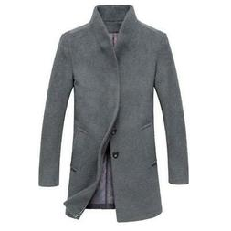 Classic Men's Jackets Outerwear Trench Woolen Coats Fashion