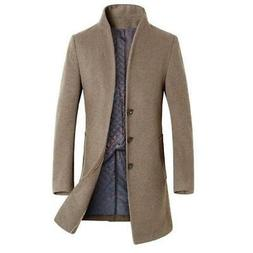 Classic Men's Jackets Outerwear Trench Woolen Coats Fashion