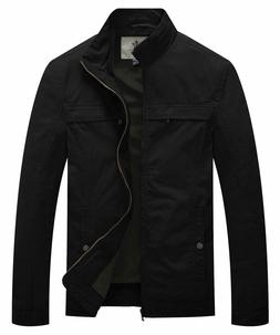 WenVen Men's Lightweight Cotton Jacket Casual Military Outdo