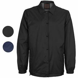 Men's Lightweight Water Resistant Button Up Nylon Windbreake