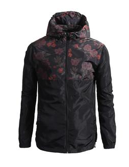 Beautiful Giant Men's Lightweight Windbreaker Floral Jacket