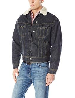 men s lined denim jacket clash small