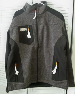 NRA Men's Lined Jacket Black Gray Size L Large BRAND NEW **F