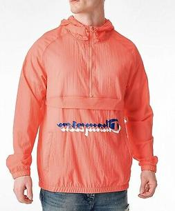 Champion Men's Manorak Papaya Anorak Shadow Logo Packable Pu