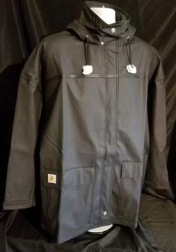 Carhartt Men's Medford Hooded Rain Defender Coat jacket. Siz