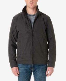 London Fog Men's Medium Audubon Lined Microfiber Jacket, Bro