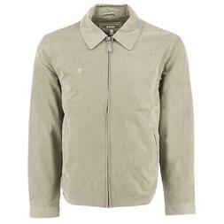 IZOD Men's Microfiber Golf Jacket Cement S