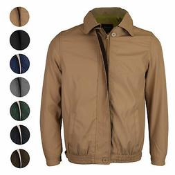 Men's Microfiber Golf Sport Water Resistant Zip Up Windbreak