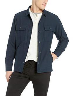 Goodthreads Men's Military Broken Twill Shirt Jacket, -navy,