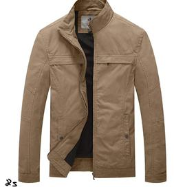 WenVen Men's Military Jacket Light-weight Casual Fashion Uti