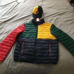 Tommy Hilfiger Men's Multi Colorblock Insulated Quilted Puff