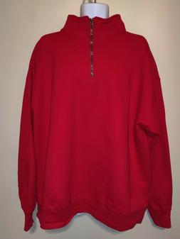 Hanes Men's Nano Quarter-Zip Fleece Jacket - Red- 2XL