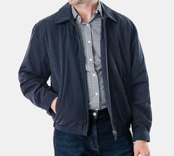 London Fog Men's Navy Auburn Zip-Front Golf Jacket Size 3XL
