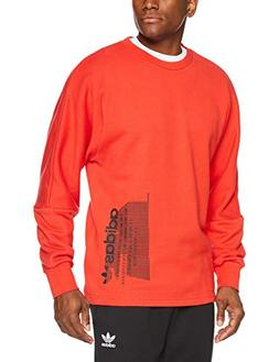 adidas Originals Men's NMD Sweatshirt, Lush red, XL