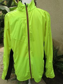 Men's Saucony NOMAD Jacket Bright Green/Black Running Sport