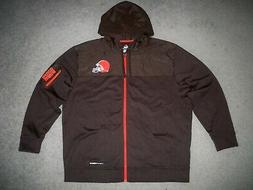 Men's NWOT MAJESTIC Therma-Base CLEVELAND BROWNS Zip Jacket