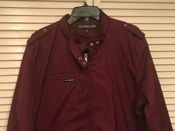 Members Only Men's Original Iconic Racer Jacket, Burgundy, X