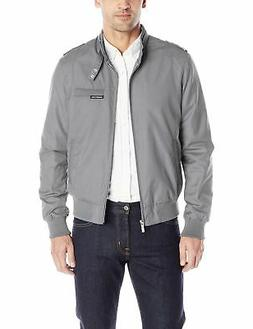 Members Only Men's Original Iconic Racer Jacket Grey X-Large