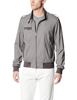 Members Only Men's Original Iconic Racer Jacket, Silver Grey