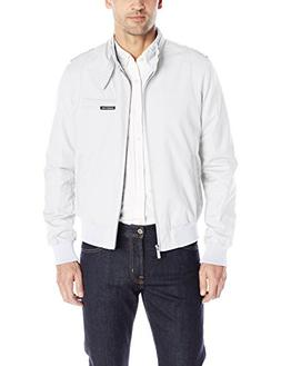 Members Only Men's Original Iconic Racer Jacket, White, X-La