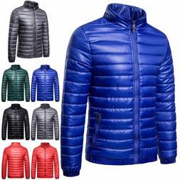 Men's Packable Down Jacket Ultralight Stand Collar Coat Wint
