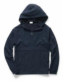 Hanes Mens Jacket Packable Hooded Water wind resistant Light