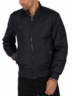 Tommy Hilfiger Men's Padded Bomber Jacket, Blue
