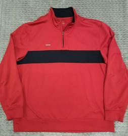 Men's IZOD PerformX Golf 1/4 Zip Red Pullover Fleece Sweater