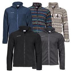 Men's Columbia Polar Fleece Zip Front Two Pocket Jacket