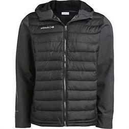 Men's Columbia Powder Lite Hybrid Hooded Jacket Omni-Heat Bl