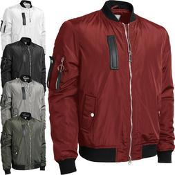 Mens Bomber Jacket Premium Multi Pocket Water Resistant Padd
