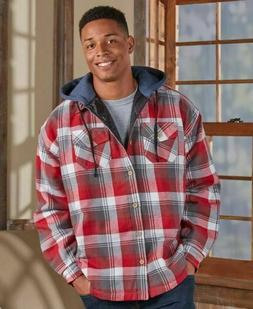 Men's Quilt-Lined Flannel Shirt Jacket -