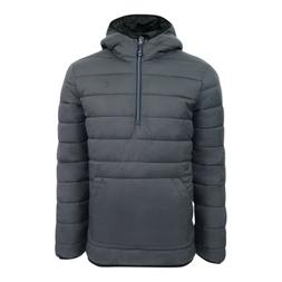 IZOD Men's Quilted 1/4 Zip Pullover Puffer Jacket Charcoal L