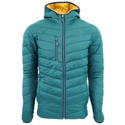 IZOD Men's Quilted Full Zip Puffer Jacket Hunter Green XL