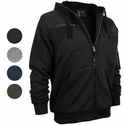 Vertical Sport Men's Quilted Moto Sherpa Fleece Lined Zip Up