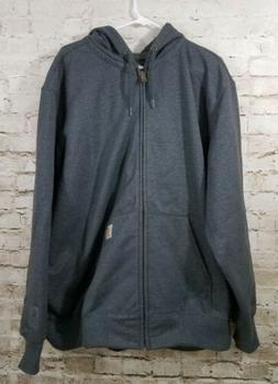 Carhartt Men's Rain Defender Full Zip Sweatshirt Jacket Size