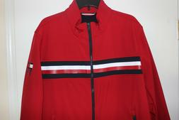 Tommy Hilfiger Men's Red Jacket Water Resistant Windbreaker